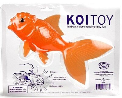 Fred Friends KOI TOY Light-Up Bath Goldfish Fun In The Bath Gift For Kids NEW