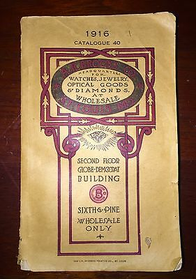Original 1916 Catalog: Watches, Jewelry, Diamonds; A.R. Brooks Co.
