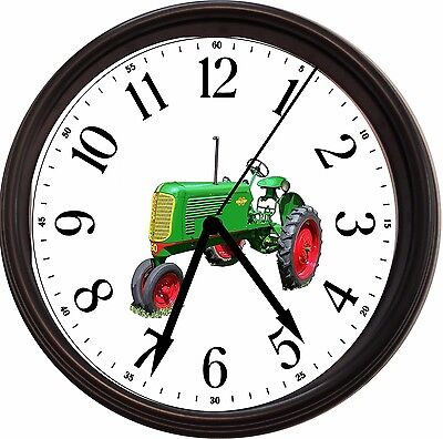 """New Oliver """"60 Row Crop Tractor"""" Wall Clock Used 1940-1948"""