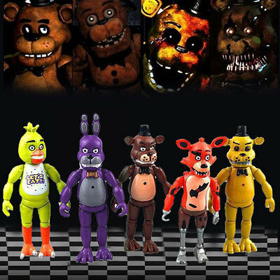 5PCS Five Nights At Freddy's Action Figures Decor For Kid