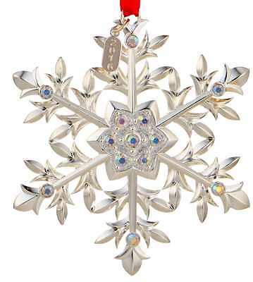 2016 Lenox Snow Majesty Ornament For Christmas Decoration Tree Silver 865884