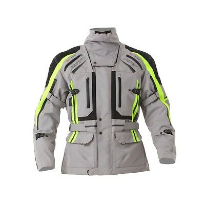 RST Paragon V Waterproof Silver Fluro Yellow Textile Touring Riding Jacket