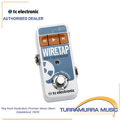 TC Electronic WireTap 8 Hour Riff Recorder Pedal with iOS / Android Control