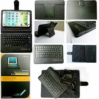 For 7/8/10inch Tablet PortFolio Cover Leather Case Bluetooth Wireless Keyboard W