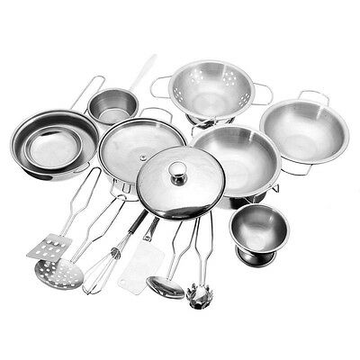 Stainless Steel Simulation Toys Funny Utensils Pots Pans Cooking Pots for Kids