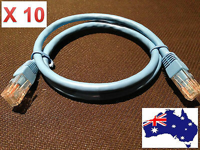 10 x 0.5m Cat6 Ethernet Network LAN Cable Patch Lead Bulk Buy Lot of 10