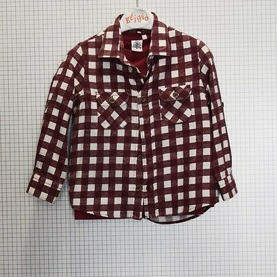 Two Play Camicia Bordeaux Bianco