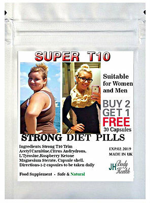 T10 Plus Extreme Fat Burner Tablets-Fast Strong Weight Loss Slimming Diet Pills