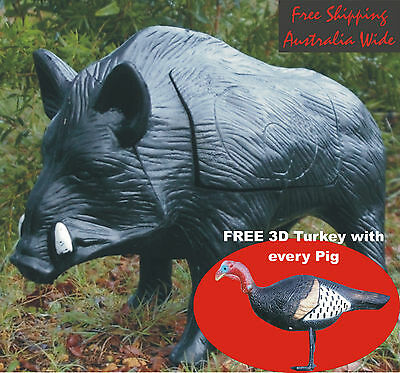 3D Archery Target Boar Pig (with Free Turkey)