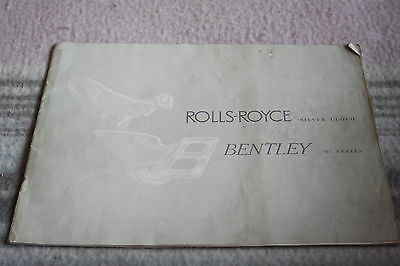 Rolls-Royce and Bentley brochure silver cloud and s series