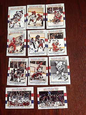 11 Trading Cards From US Olympic Games Hall Of Fame Ice Hockey