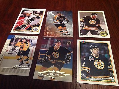 6 Trading Cards From Boston Bruins