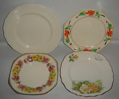 4 x Side Plates COLCLOUGH / SWINNERTONS / SCOTCH IVORY Vintage Bone China