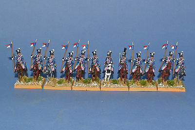 15mm Napoleonic painted Polish Lancer Rgt  Pol02