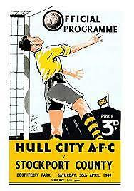 Hull City Afc Two 1949 Vintage Programmes.
