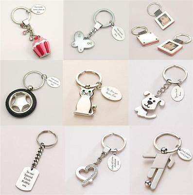 Personalised Keyrings, Very High Quality, Any Engraving. Gift Box,Fast Dispatch!