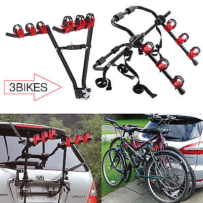 2 Type 3 BICYCLE CARRIER CAR RACK BIKE CYCLE UNIVERSAL FITS MOST CARS REAR MOUNT