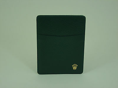 Genuine Rolex vintage green leather card holder 1980s
