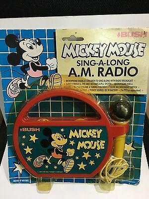 VINTAGE NOVELTY MICKY MOUSE SING-A-LONG RADIO BAND AM(MW)1970S -1980s