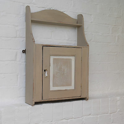 Vintage Shabby Chic Small Country Cupboard, Cabinet, Storage Painted Annie Sloan
