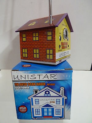 Novelty Radio In A Shape Of A House  With Original Box  Fm