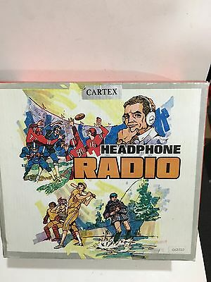 VINTAGE NOVELTY CALTEX RADIO In Shape Of A Head Phone BANDS MW(-AM) -1960S-1970s