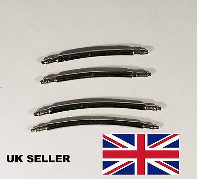 Curved watch spring pins bars 14mm to 24mm