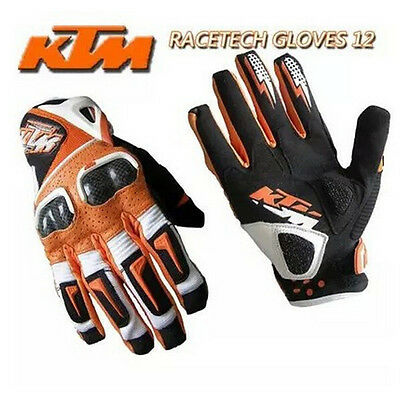 KTM leather carbon fiber gloves OffRoad Mx Motocross Protection Gear Motorcycle