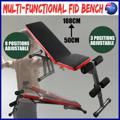 Adjustable Fitness Situp Weight FID Bench Flat Decline Incline Home Gym Exercise