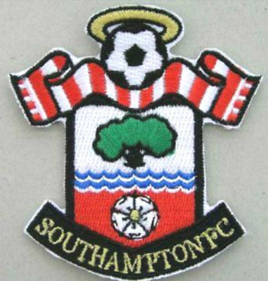 Southampton FC Patch Football Club Crest Embroidered Iron on Badge Soccer DIY