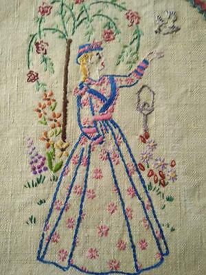 Crinoline Lady -2 different lady sides~ Tea Cosy/Cover~ Vintage Hand Embroidered