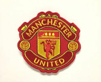 Man United Crest Patch Manchester MUFC Football Embroidered Iron on Badge  7.5cm