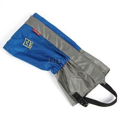 Polyester Waterresistant Windproof Gaiters Leg Protection Guard Skiing Blue V1T0