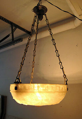 Antique MARBLE / Alabaster HANGING CHANDELIER **OUTSTANDING** rare
