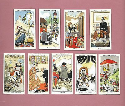 Part Set of Nine 1937 W.A. & A.C. Churchman Cigarette Cards - Howlers