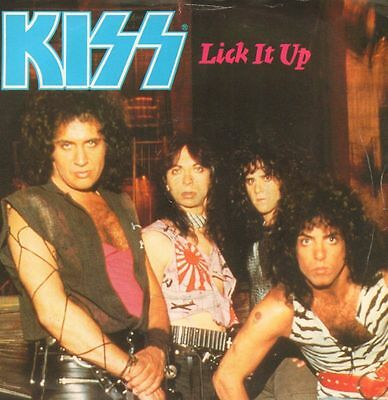 "Kiss(7"" Vinyl P/S)Lick It Up-Vertigo-KISS 5-UK-1983-VG+/Ex"
