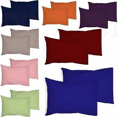 2 x Luxury Pillow Case Cases Polycotton Housewife Pair Pack Bedroom