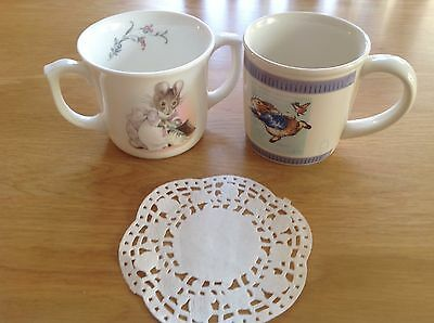 Royal Albert Beatrix Potter Hunca Munca Mug +Wedgwood Peter Rabbit.