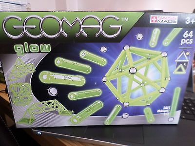Geomag Glow 64 Piece Set  New Sealed Free Post