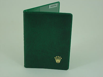 Genuine Rolex vintage green vinyl card holder from 1980s