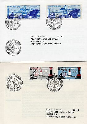 Sverige 2 x Cover with Special Postmarks 1969, 1971