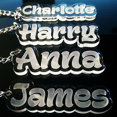 Personalised FROZEN KEYRING KEYCHAIN GIFT ANY NAME SCHOOL BAG TAG WORD