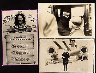 THREE Postcards ~ GEORGE V & QUEEN MARY (Glimpse of) Real Photo~ British Royalty