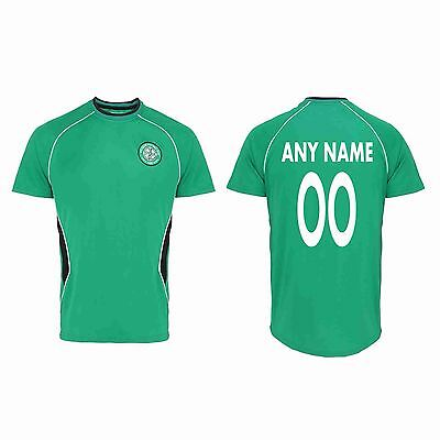 Personalised Official Celtic Fc Football T-Shirt With Your Name & Number Sport