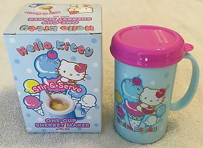 NEW Sanrio Hello Kitty Sherbet Maker with Lid One-Cup Frozen Drinks
