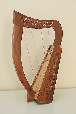 12 String Celtic Irish Harp * with spare strings and tuning key*