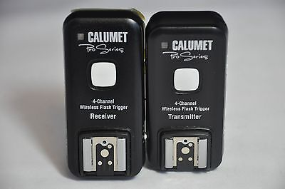 Calumet Pro Series 4 Channel Wireless Flash Trigger Receiver and Transmitter