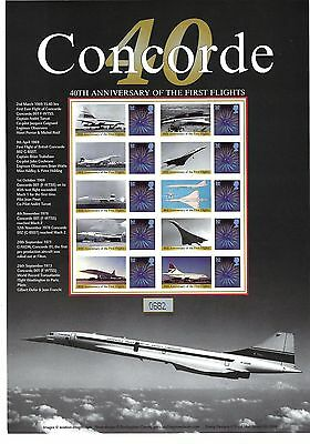 GB - Concorde 40th Anniversary - Special numbered stamp sheet - First Flights
