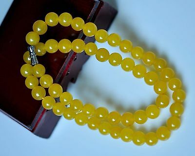 Chinese Natural Handcraft HeTian Jade yellow jade Necklaces AAAAA