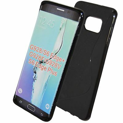 Black Ultra Strong S-line Wave TPU Gel Silicone Case Cover Samsung S6 edge plus